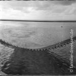 Büsum - Netz zum Fischen ausgefahren