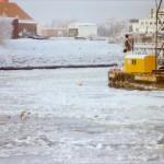 Eis im Büsumer Hafen